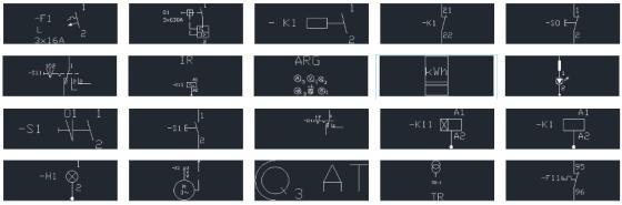 Electrical symbols dwg