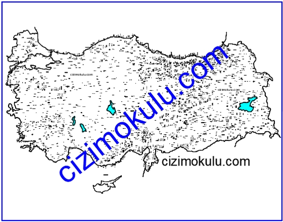 Türkiye Fiziki Haritası 1 çizim Okulu
